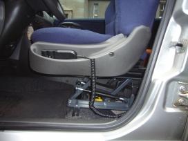 Výškové nastavení sedačky